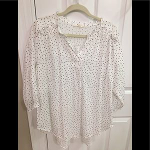 Cute white and black dot boutique top